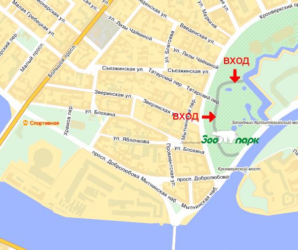 Московский зоопарк схема проезда метро